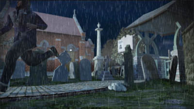 I found the easiest way to add rain was to create it as a separate animation and composite it in with Adobe Premiere Elements.